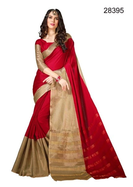 Cotton silk sarees for casual wear and daily wear