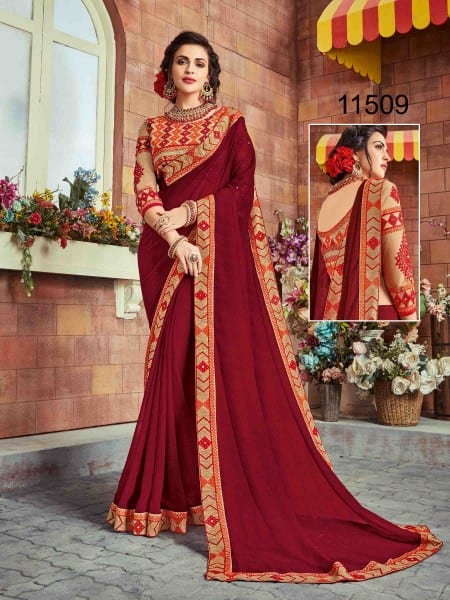Georgette Party wear indian women sarees