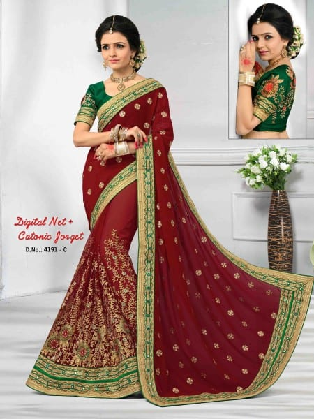 manipuri sarees collection with mirror work