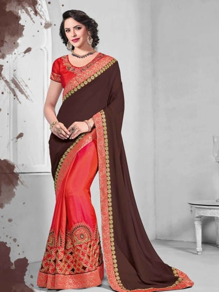 indian wear party wear sarees