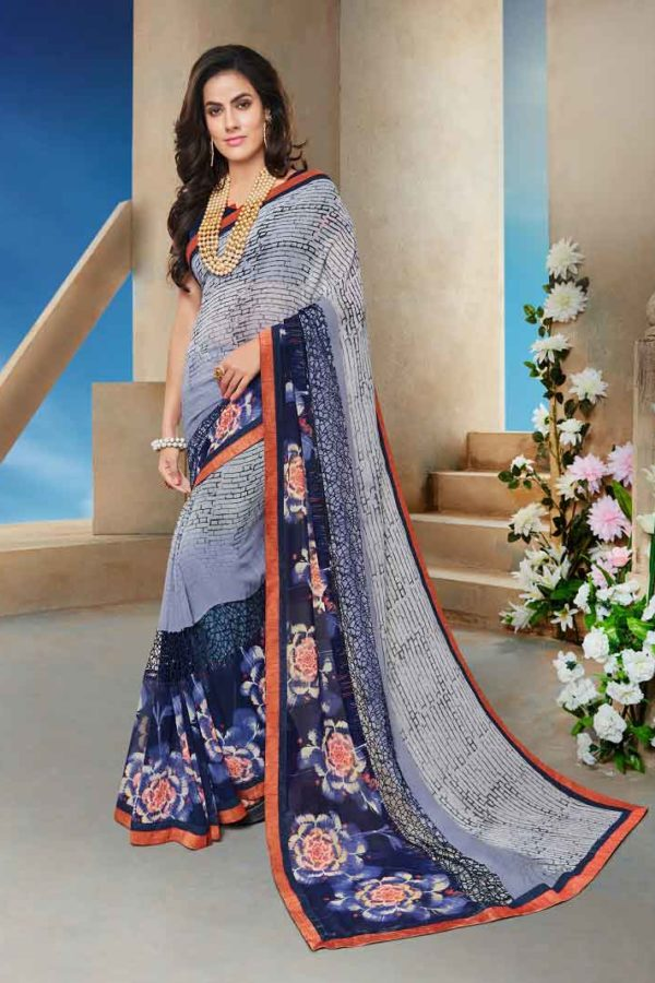Stylish Multi Color georgette saree 11411
