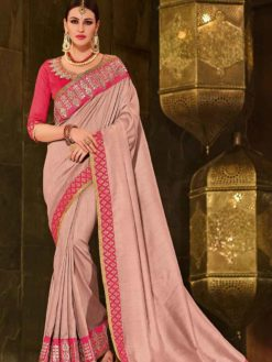 Indian Women pink color silk Saree 30213