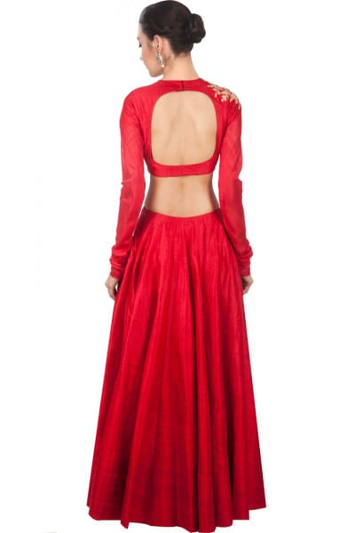 Red designer embroidred lehenga choli with matching dupatta for woman 120 A