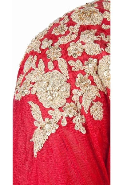 Red designer embroidred lehenga choli with matching dupatta for woman 120 D