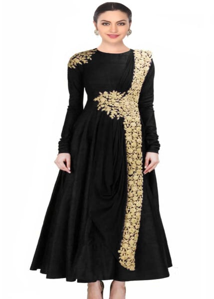 Exclusive Black designer embroidered dress for women 121 BLack