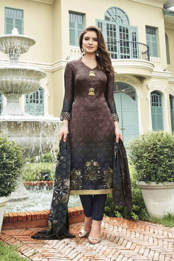Exclusive Maska Satin Digital Print Daily Wear Salwar Kameez-3705