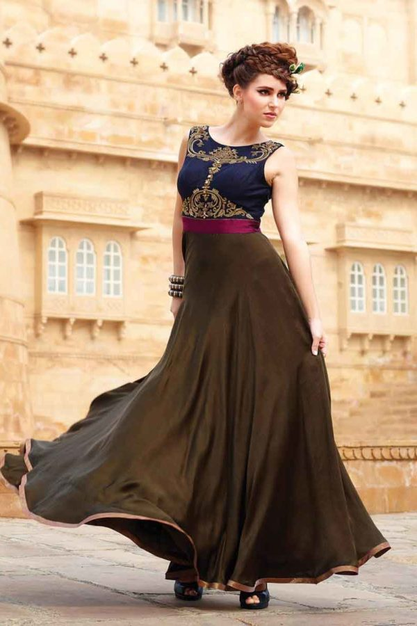 Indian evening gowns for wedding reception
