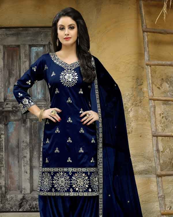 Blue Punjabi Suit