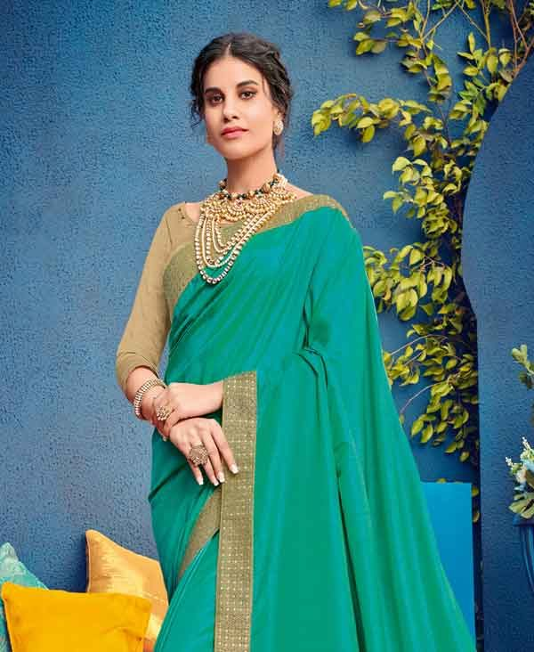 Green Saree Silk