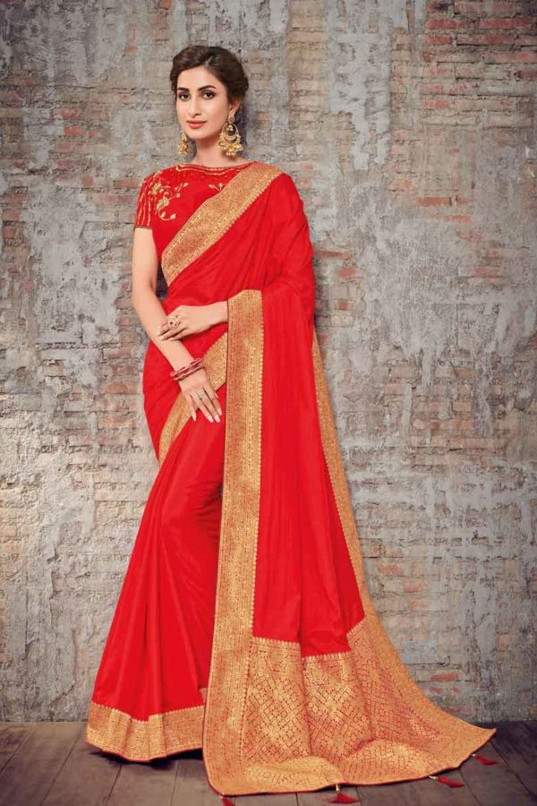 Red Silk Saree For Wedding