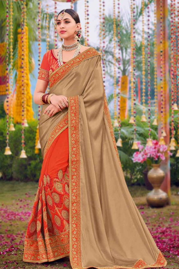 Beige Colour Saree