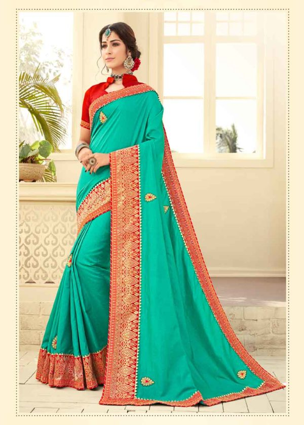 Sea Green Saree