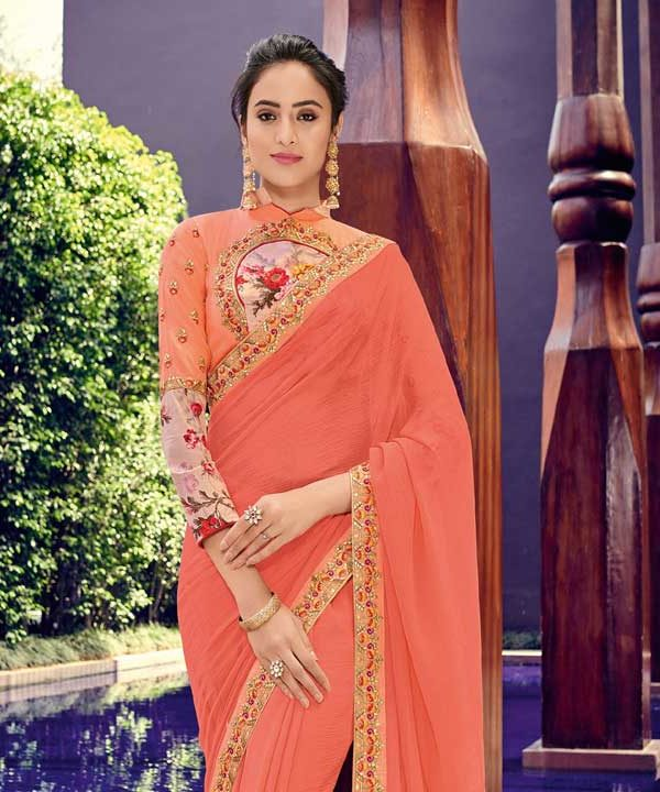 Designer Saree With Blouse