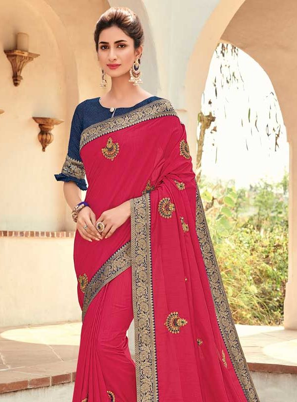 Silk Saree With Designer Blouse
