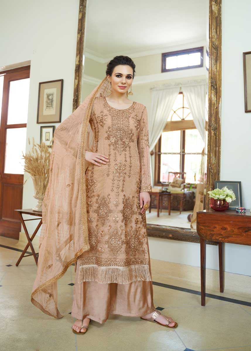 Indian Suit With Palazzo Pants