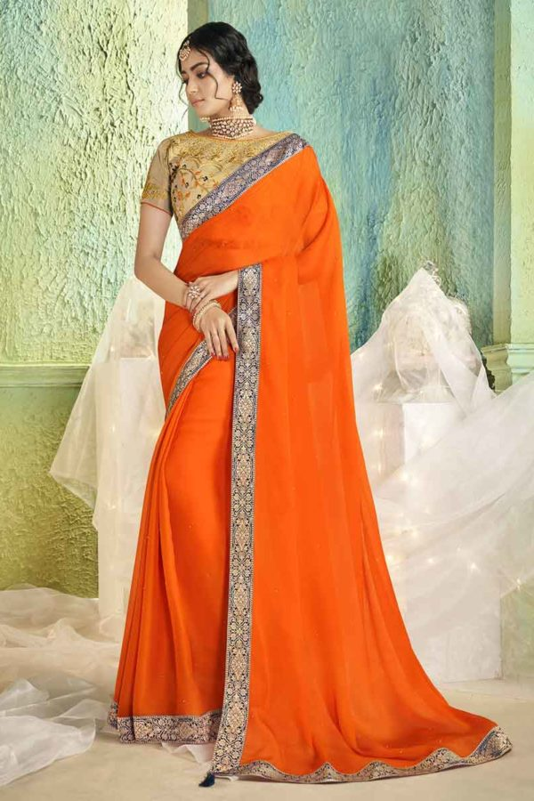 Saree With Blouse Online