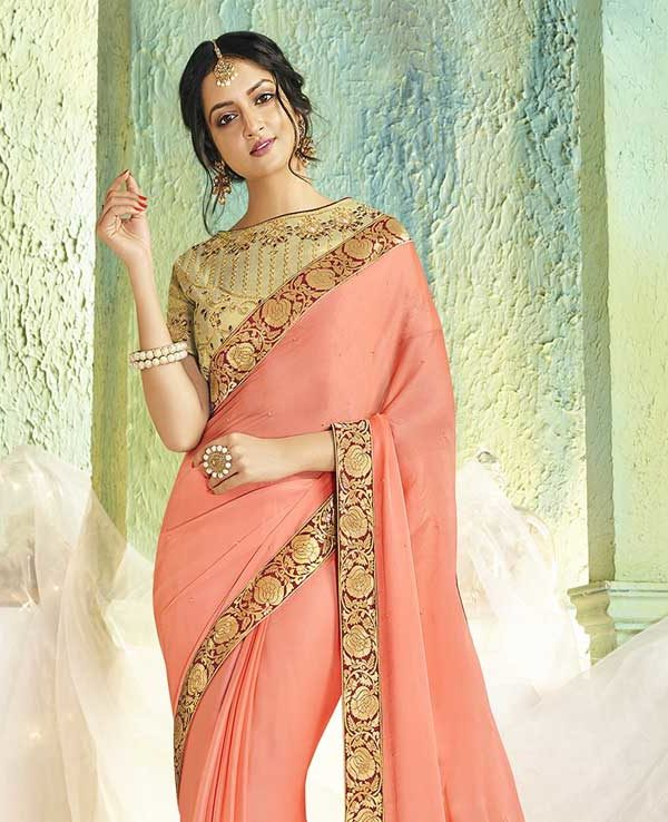 Sarees With Designer Blouse Online