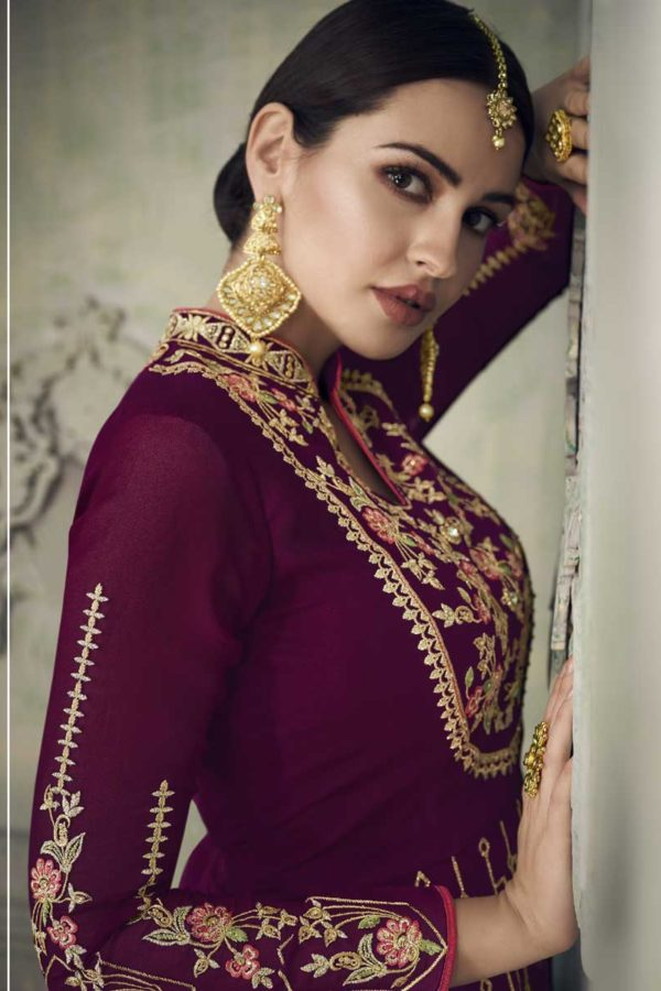 Designer Suit With Sharara