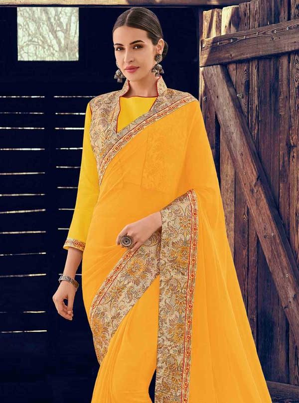 Saree Yellow